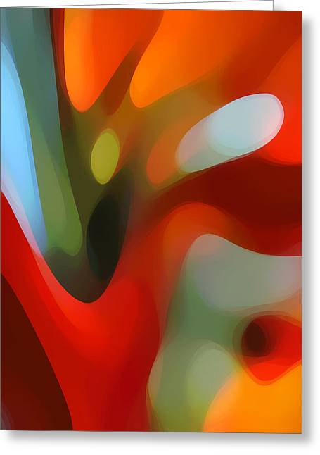 Abstract Movement Greeting Cards -  Tree Light 2 Greeting Card by Amy Vangsgard