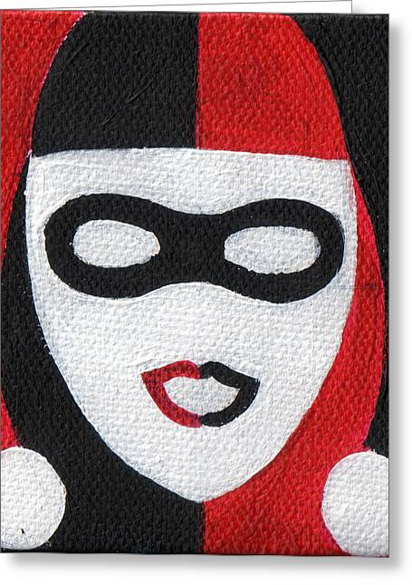 Comicbook Greeting Cards -  Two Tone Harley Greeting Card by Arturo Vilmenay