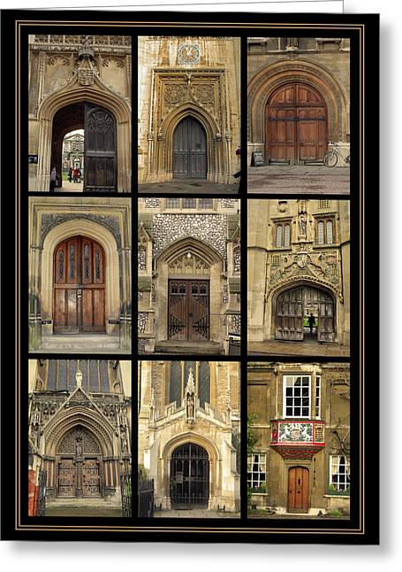 Old Door Pyrography Greeting Cards -  UK doors Greeting Card by Christo Christov