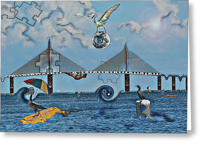 Dali Inspired Greeting Cards -  Untitled Greeting Card by Amanda Vouglas
