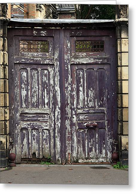 France Doors Greeting Cards -  Urban Gateway Greeting Card by Aidan Moran