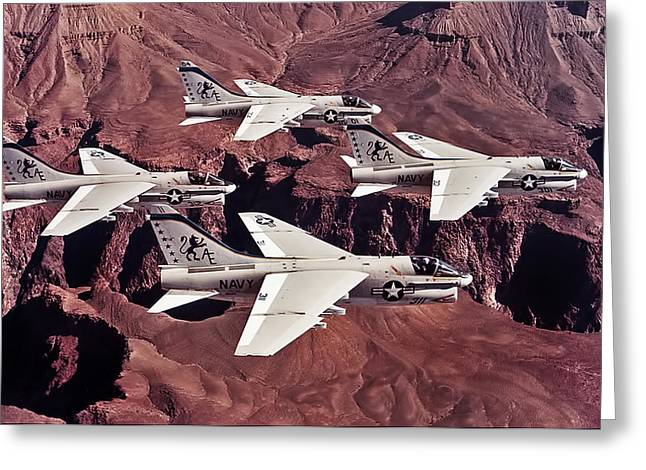 15 Greeting Cards -  VA-15 Valions Greeting Card by Peter Chilelli