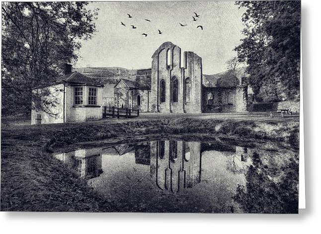 Valle Crucis Greeting Cards -  Valle Crucis Abbey v2 Greeting Card by Ian Mitchell