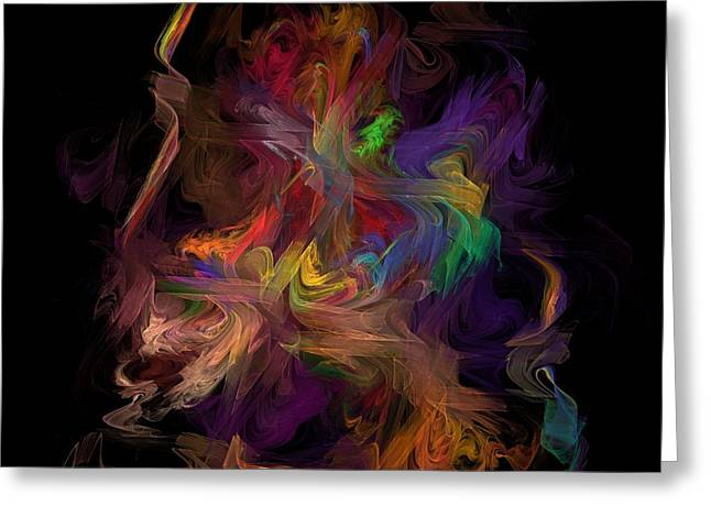 Veils of Many Colors Greeting Card by Madeline  Allen - SmudgeArt