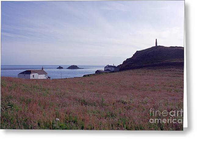 Cape Cornwall Greeting Cards - View From St Helens Oratory Cape Cornwall Greeting Card by Terri  Waters