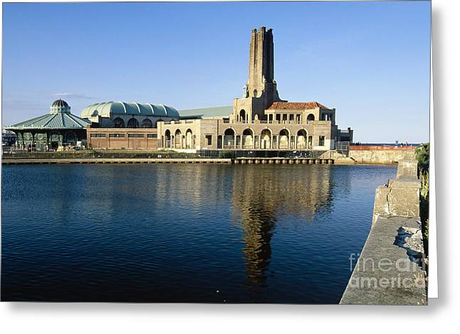 Asbury Casino Greeting Cards -  View of the Historic Asbury Park Casino Greeting Card by George Oze