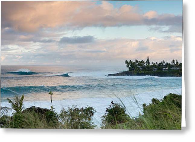 Swell Greeting Cards -  Waimea Rumble Greeting Card by Sean Davey