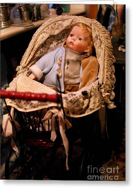 Toy Shop Greeting Cards -  Waiting For A New Friend Greeting Card by Karin Stein
