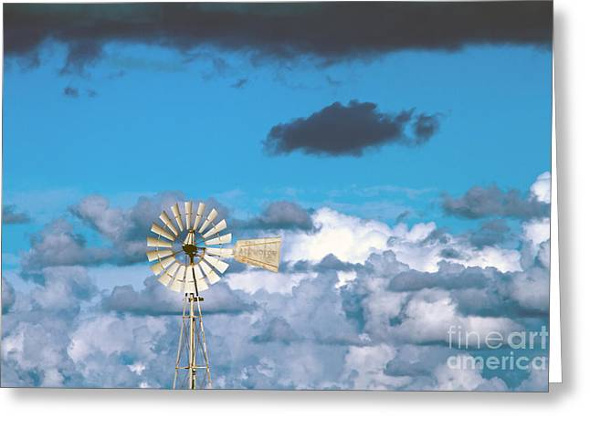 Rotation Photographs Greeting Cards -  Water Windmill Greeting Card by Stylianos Kleanthous