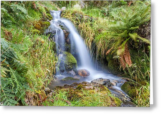 Water Flowing Greeting Cards -  Waterfall Greeting Card by Stuart Gennery