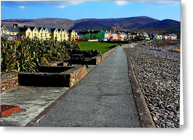 Village Life Greeting Cards -  Waterville Village Greeting Card by Aidan Moran