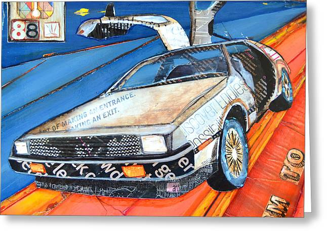 Delorean Greeting Cards -  We Dont Need Roads Greeting Card by Danny Phillips
