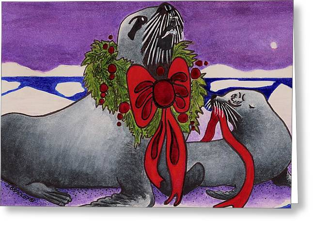 Christmas Greeting Mixed Media Greeting Cards -  Wear Your Best Greeting Card by Joy Bradley