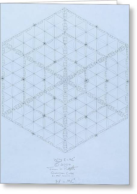 New Drawings Greeting Cards -  Why Energy Equals Mass Times the Speed of Light Squared Greeting Card by Jason Padgett