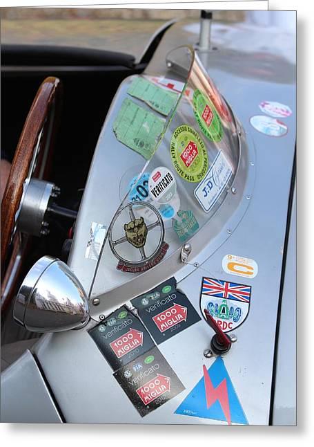 Goodwood Greeting Cards -  Windscreen Sticker Greeting Card by Robert Phelan