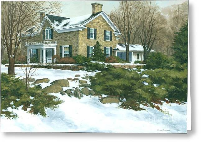 Michael Swanson Greeting Cards -  Winters Retreat  30 x 40 - SOLD Greeting Card by Michael Swanson
