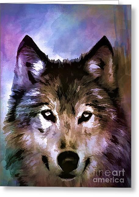 Wolf Greeting Card by Andrzej Szczerski