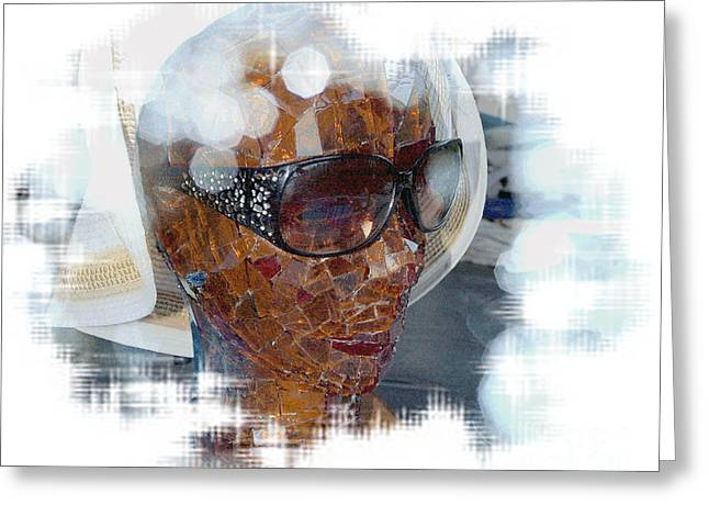 Interior Still Life Greeting Cards -  Woman Of Many Facets Greeting Card by Irma BACKELANT GALLERIES