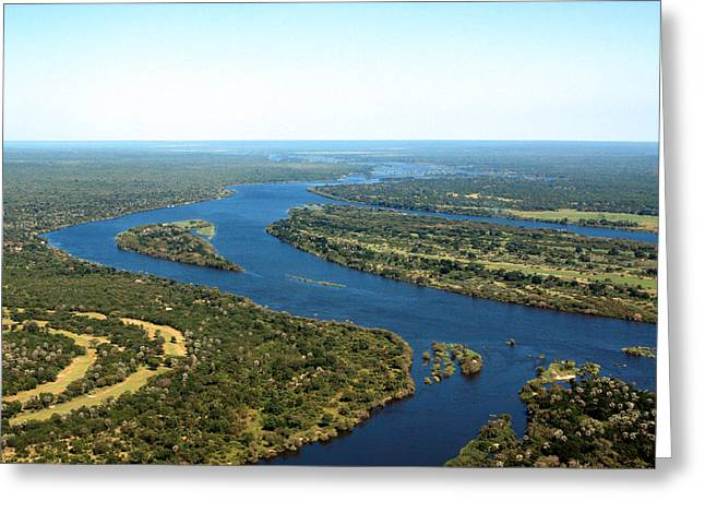 Landsacape Greeting Cards -  Zambezi River Greeting Card by Aidan Moran