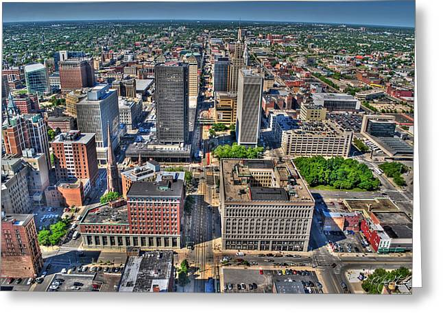 0011 Visual Highs Of The Queen City Greeting Card by Michael Frank Jr