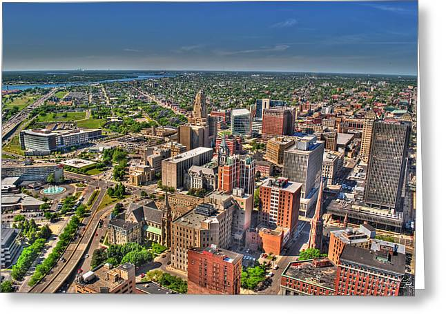 0012 Visual Highs Of The Queen City Greeting Card by Michael Frank Jr