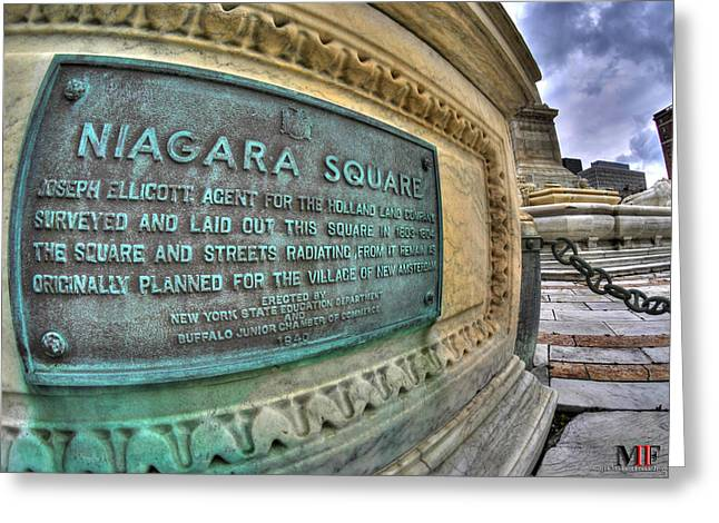 Places Greeting Cards - 0015 Niagara Square Greeting Card by Michael Frank Jr
