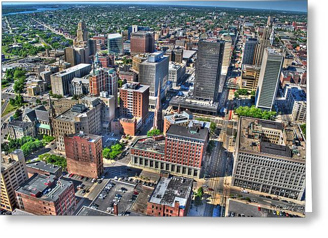 0017 Visual Highs Of The Queen City Greeting Card by Michael Frank Jr
