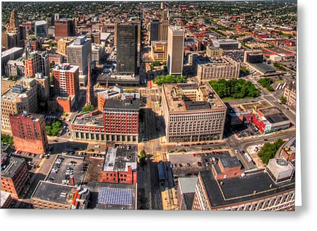 0023a Visual Highs Of The Queen City Greeting Card by Michael Frank Jr