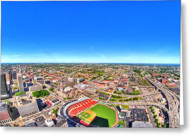 0025 Visual Highs Of The Queen City Greeting Card by Michael Frank Jr