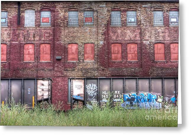 Railyard Greeting Cards - 0037 Abandoned Warehouse Greeting Card by Steve Sturgill