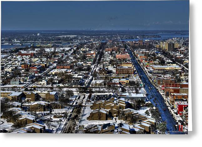 0043 After The Nov 2014 Storm Buffalo Ny Greeting Card by Michael Frank Jr