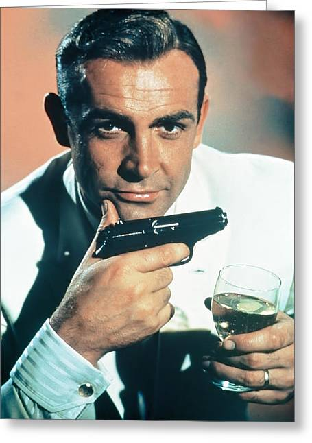 Sean Digital Art Greeting Cards - 007 James Bond Greeting Card by Nomad Art And  Design