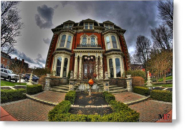 Places Greeting Cards - 008 Mansion on Delaware Ave Greeting Card by Michael Frank Jr
