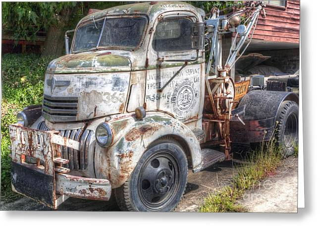 Sequoia National Park Greeting Cards - 0111 Old Tow Truck 2 Greeting Card by Steve Sturgill