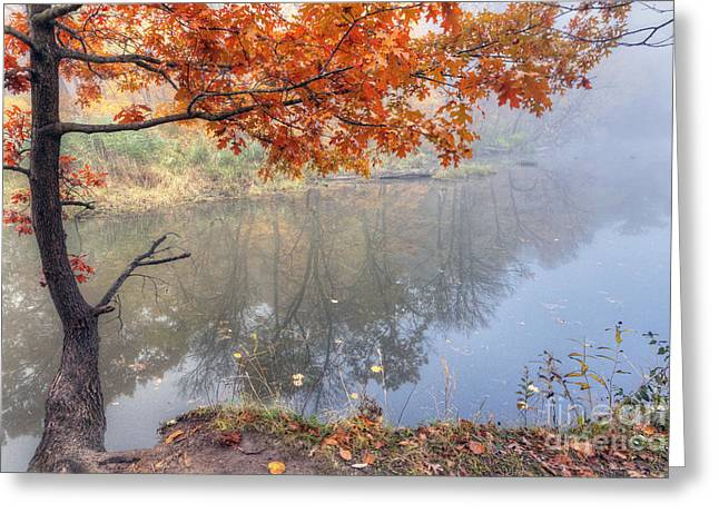 Starved Rock Park Greeting Cards - 0132 Autumn at Starved Rock Greeting Card by Steve Sturgill
