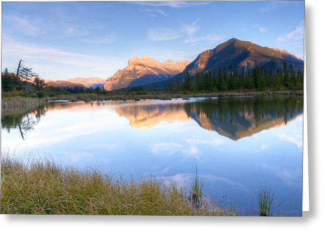 Vermillion Greeting Cards - 0150 Vermillion Lake Greeting Card by Steve Sturgill