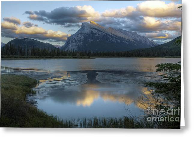 Rundle Greeting Cards - 0173 Rundle Mountain Greeting Card by Steve Sturgill