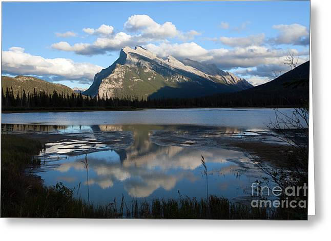 Rundle Greeting Cards - 0174 Rundle Mountain Greeting Card by Steve Sturgill