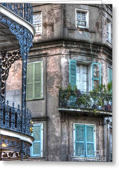 French Quarter Doors Greeting Cards - 0254 French Quarter 10 - New Orleans Greeting Card by Steve Sturgill
