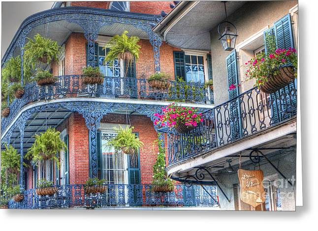 0255 Balconies - New Orleans Greeting Card by Steve Sturgill