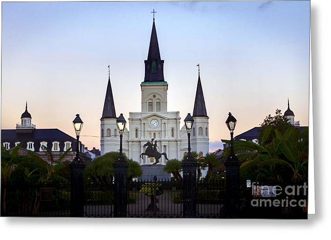 St. Louis Cathedral Greeting Cards - 0262 St. Louis Cathedral - New Orleans Greeting Card by Steve Sturgill