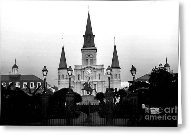 St. Louis Cathedral Greeting Cards - 0263 St. Louis Cathedral - New Orleans Greeting Card by Steve Sturgill