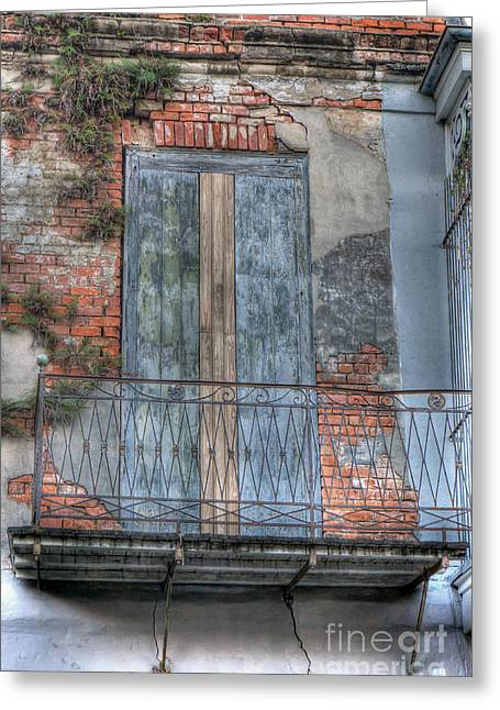 French Doors Greeting Cards - 0264 French Quarter 8 - New Orleans Greeting Card by Steve Sturgill