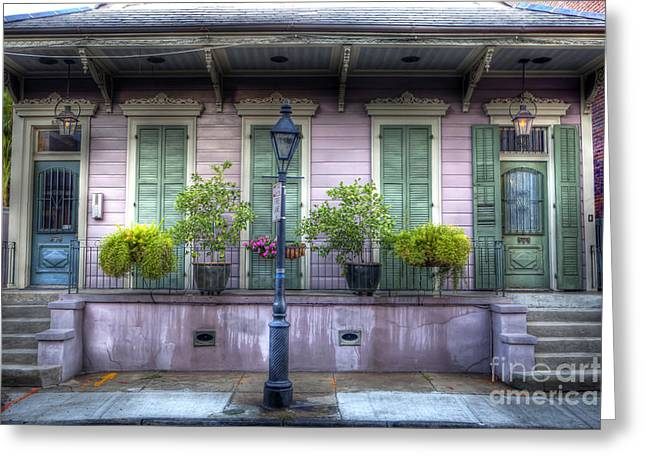 French Doors Greeting Cards - 0267 French Quarter 5 - New Orleans Greeting Card by Steve Sturgill