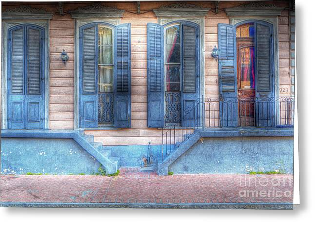 French Doors Greeting Cards - 0268 French Quarter 4 - New Orleans Greeting Card by Steve Sturgill