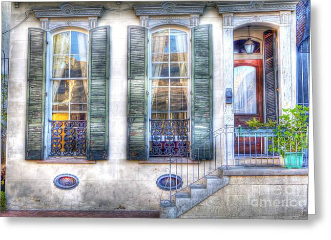 French Doors Greeting Cards - 0272 French Quarter 1  - New Orleans Greeting Card by Steve Sturgill