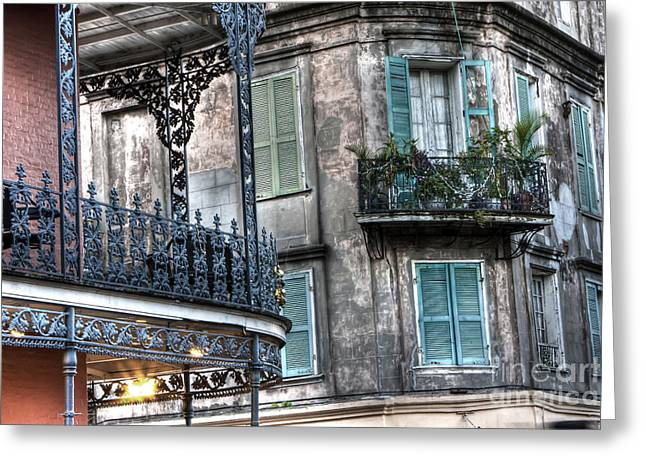 Mardis Greeting Cards - 0275 New Orleans Balconies Greeting Card by Steve Sturgill