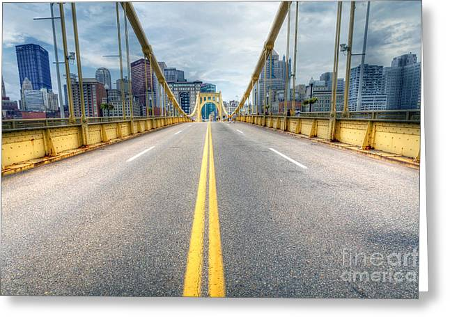 Roberto Greeting Cards - 0306 Pittsburgh 9 Greeting Card by Steve Sturgill