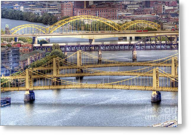 Worhol Greeting Cards - 0307 Pittsburgh 8 Greeting Card by Steve Sturgill