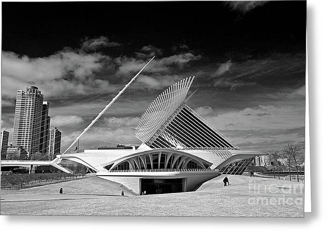 Milwaukee Art Museum Greeting Cards - 0352 Milwaukee Art Museum Infrared Greeting Card by Steve Sturgill